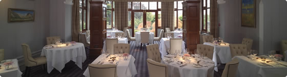 The dining room at Northcote Manor