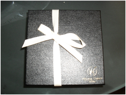 Box of William Curley chocolates from Harrods