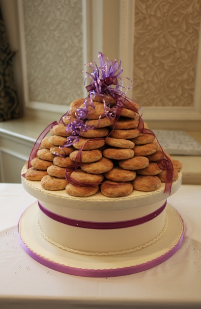Eccles cakes wedding cake, Slattery's